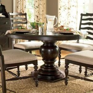 the contemporary pedestal table